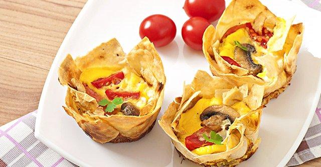 """Breakfast Burrito """"Muffins"""""""