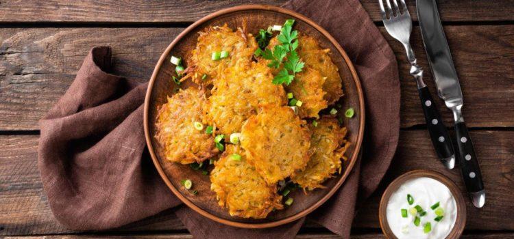 Potato pancakes or Deruny