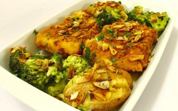 Cod fish in olive oil