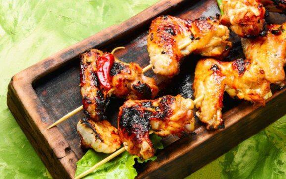 Korean BBQ chicken wing